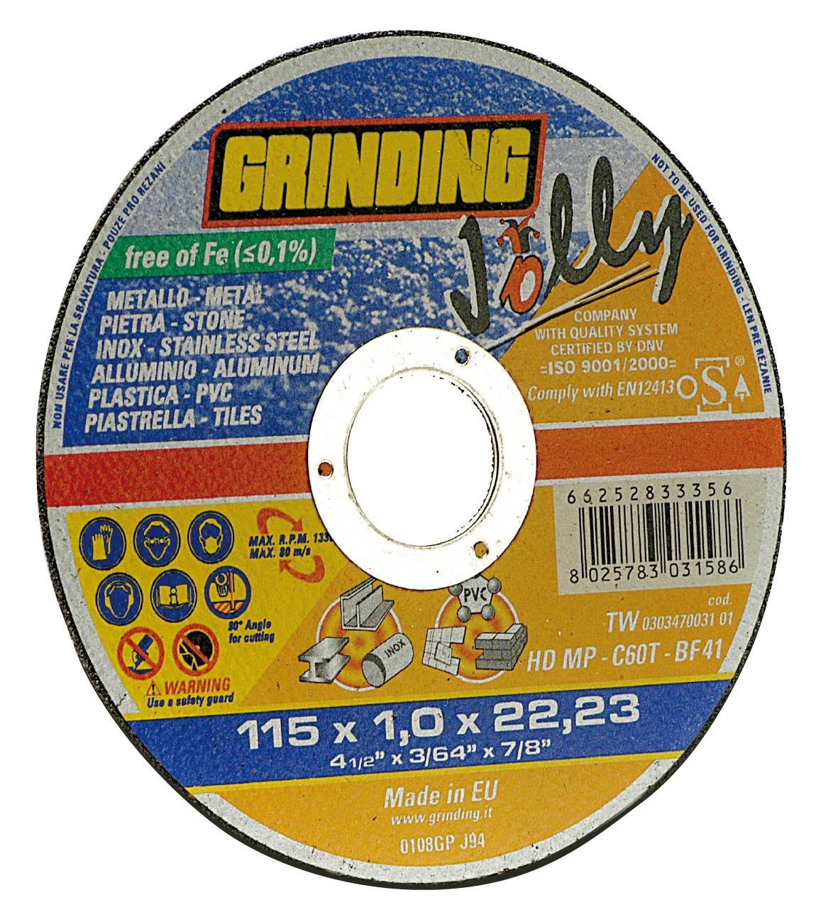 GRINDING DISCO LAMELLARE X ACCIAIO D.115